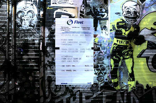 Fleet ATM Receipt, Central Square, Cambridge