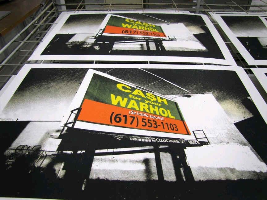 Cash For Your Warhol print by BLDG Refuge